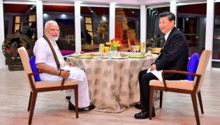 Narendra Modi-Xi Jinping contest for chairs - Sakshi