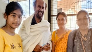 Rajinikanth in Rishikesh Near Himalayas - Sakshi