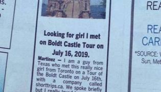 Texas Man Finds Lover After Viral Newspaper AD - Sakshi