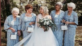 Bride Asks Grandmothers As Flower Girls At Her Wedding - Sakshi