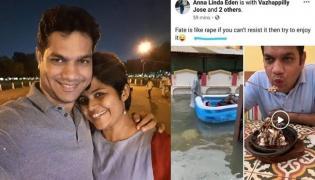 MP Hibi Eden Wife Posts Worst Rape Joke On Facebook - Sakshi