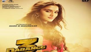 Salman Khan Introduces Saiee Manjrekar With Dabangg3 Poster - Sakshi