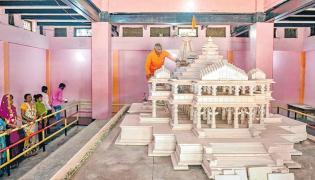 Ram temple construction in Sompura design - Sakshi