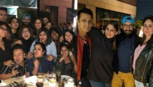 Aamir Khan And Kareena Kapoor Laal Singh Chaddha Party After Shoot - Sakshi
