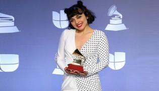 Chilean-Mexican Singer Mon Laferte Goes Topless on Red Carpet  - Sakshi