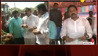 Deputy CM Alla Nani Inagurated Sand Stock Yard In Janampet East Godavari - Sakshi