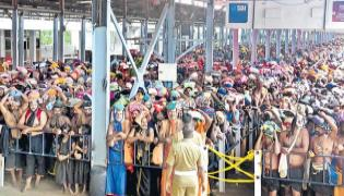 Devotees Visiting Sabarimala Without Any Fear - Sakshi