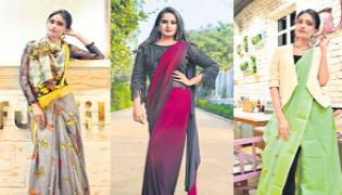Sarees Are A Trend Now - Sakshi