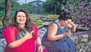 Two Ladies Giving Awareness About Obesity By Fat So - Sakshi
