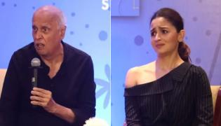 Alia Bhatt Tries To Calm Down Dad Mahesh At Shaheen Bhatt Book Launch - Sakshi