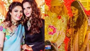 Sania Mirza Sister Anam Mirza Marriage With Azharuddin Son Asad - Sakshi