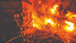 13 Killed and 21 Injured in Fire at Illegal Plastic Factory in Bangladesh - Sakshi