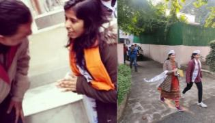 Arvind Kejriwal Wife And Daughter Campaign In Delhi - Sakshi