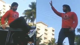 Allu Arjun Gets Grand Welcome In Vizag - Sakshi