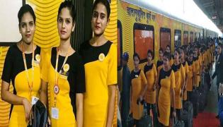Tejas Express Train Hostess Suffering With Passengers - Sakshi
