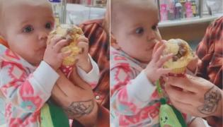 Babys Priceless Reaction To Her First Ice Cream - Sakshi