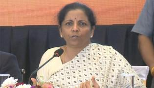 Nirmala Sitharaman Press Meet Over Central Budget In Hyderabad - Sakshi