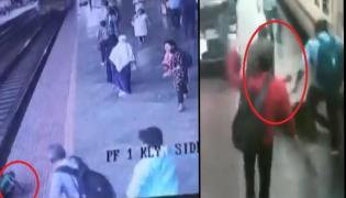 Viral Video: RPF Constable Rescue Woman Passenger - Sakshi