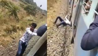 Piyush Goyal Shares Horrifying TikTok Video Of Train Stunt  - Sakshi