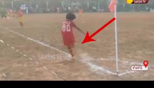Watch Video :10-years-old Boy Stunning Zero Degree Goal In Kerala- Sakshi