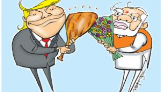 America President Donald Trump Visits India - Sakshi