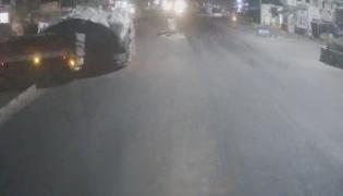 Two Lorries Met Accident in Sangareddy