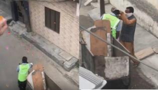 People Applaud Sanitation Worker And Garland Him In Punjab - Sakshi