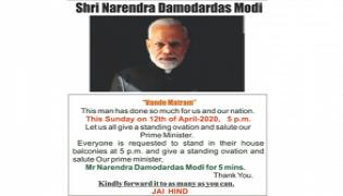 Standing Ovation For Narendra Modi On April 12 Poster Went Viral - Sakshi