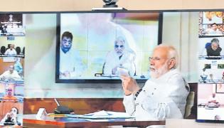 PM Narendra Modi Video Conference With TR Leaders KK and Nama - Sakshi