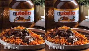 Netizens Fires On New Nutella Biryani - Sakshi