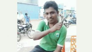 Man Conflict In Front Of The CP Office With Knife At Visakhapatnam - Sakshi