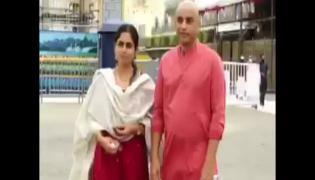 Dil Raju And Tejaswini Visits Tirumala After Wedding Video