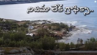 Watch Video How Landslide Drags Houses Into Sea In Norway - Sakshi