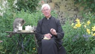 Viral Video Cat Steals Priest Milk - Sakshi