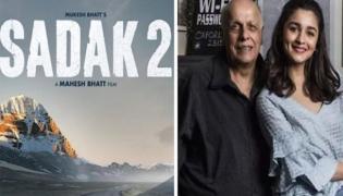 Complaint Filed Against Alia And Mahesh Bhatt On Sadak 2 poster - Sakshi