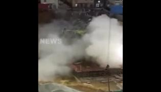 Building Collapsed in Seconds Viral Video In Bangalore