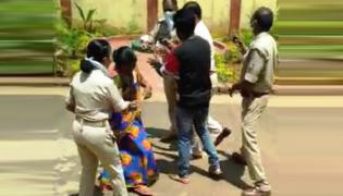 Odisha Police Abusing Women Video Viral in Social Media - Sakshi