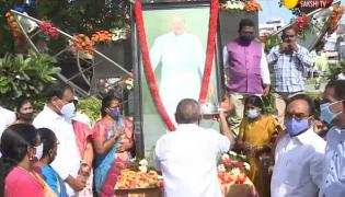 Tirupati YSRCP MLA Bhumana Karunakar Reddy celebrates Dr.YSR 71st Birth Anniversary