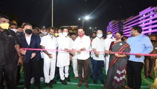 Durgam Cheruvu Cable Bridge Inaugurated By KTR - Sakshi