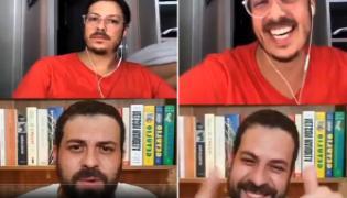 Brazilian TV Hosts Wife Walks Naked Across Camera During An Interview - Sakshi