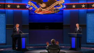 Donald Trump And Biden Debate Started In USA - Sakshi