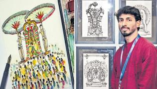 Special Story On Madhav Chitra Paint Art - Sakshi