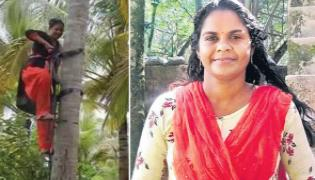 Woman Became The Labor Force For Feeding To Her Family - Sakshi