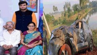 3 Deceased As Car Falls Into Canal At K Gangavaram Mandal - Sakshi