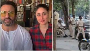Police Seen Stationed Outside Saif Ali Khan home Over Tandav Row - Sakshi