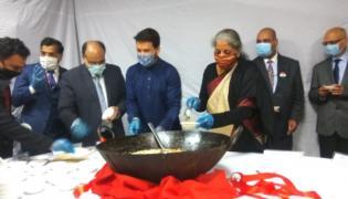 Finance Ministry holds Halwa Ceremony - Sakshi
