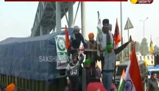 Tension At Delhi Border During Tractor Rally