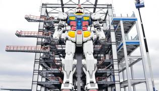 60 Feet Height Japan Robot Gundam Area - Sakshi