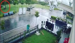 Lightning Strike In Gurgaon