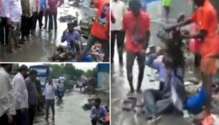 Shiv Sena MLA Inhumanly Attacked A Contractor For Drainage Issue In Mumbai - Sakshi